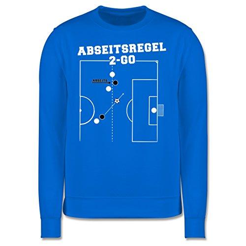 Fußball - Abseitsregel-2-Go - Herren Premium Pullover Himmelblau