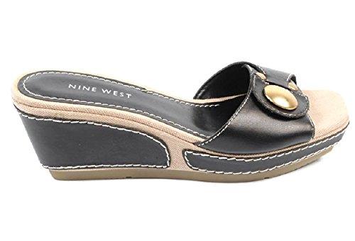 NINE WEST - Sandali Di Piattaforma Donna NWZOILO BLACK Tacco: 7 cm Nero