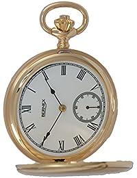 bn22602–9ct oro–Full Hunter–mecánico movimiento–números romanos esfera de color blanco