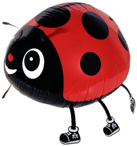 1 Stück AirWalker 'Lady Bug - Marienkäfer - Glückskäfer' - Folienballon, ohne LOLLIPOP®-Gasfüllung