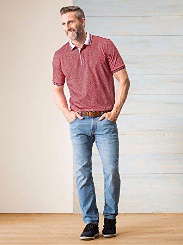 Walbusch Herren Jersey-Polo einfarbig in den Farben Hellblau, Rot Rot