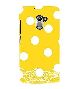 Vizagbeats White Polka Dot Pattern Back Case Cover for Lenovo Vibe K4 Note