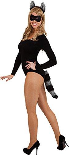 Kostüm Zubehör Waschbär - Waschbär Set - Haarreif, Schwanz, Maske