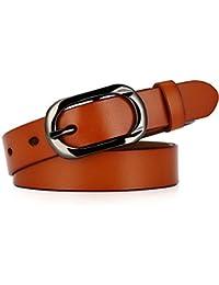 Belingeya Cinturon elástico de Mujer Cinturón de Cuero para Mujer  Pantalones Vestidos Cinturón Negro para Damas 708079d044fb