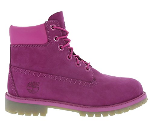 Timberland 6 In Classic Boot FTC_6 In Premium WP Boot 14749, Unisex-Kinder Stiefel Pink Nubuck