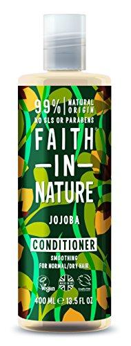 Faith in Nature - 100% natürlicher Haarspülung mit Jojoba für alle Haartypen - für häufiges Waschen - freie Sulfate - freies Paraben - Vegan