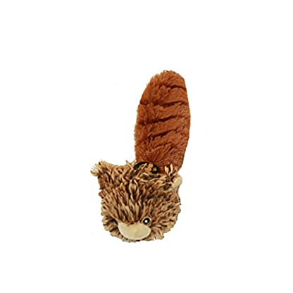 """MULTIPET Bouncy Burrow Buddies Babies Squirrel Small Dog Toy, 8"""" 1"""