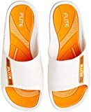 FLITE Men's White Orange Flip Flops Thong Sandals-8 UK/India (42 EU) (FL0185G)