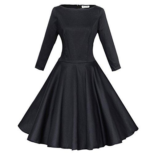Maggie Tang Femmes Robe tulle 1950s Vintage Noir - Noir