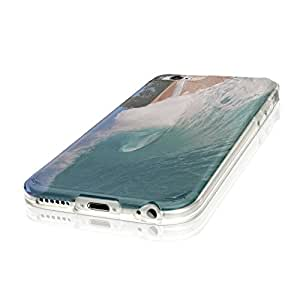 """Landscapes 10013, Wave, Ultrathin Crystal Soft TPU Gel Silicone Case Cover Skin Shell Protector with Colourful Design for iPhone 6 4.7"""""""