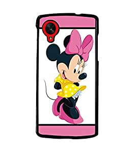 PrintDhaba Minnie Mouse D-1302 Back Case Cover for LG GOOGLE NEXUS 5 (Multi-Coloured)
