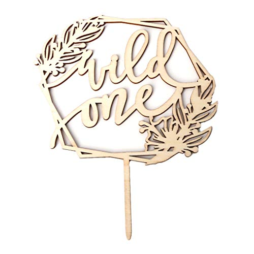Meiqqm Vintage Wild One Cake Topper Cupcake Picks Kids 1st Birthday Party Favors Baby Shower Dekoration (Personalisiert Geburtstag Party Favors)