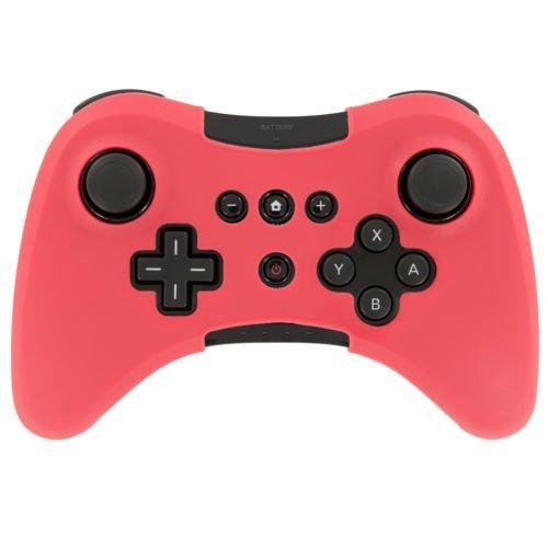 Soft Silikon Cover Case Skin Tasche Sleeve für Nintendo WII U Pro WiiU Wireless Controller Rot