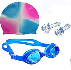 Shelby Swimming Kit (1:Swimming Goggles 1:Swimming Cap and 1:Pair Ear Plug)