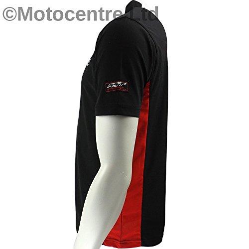 Neue RST 0065 Polo-Shirt schwarz/rot Schwarz / Rot