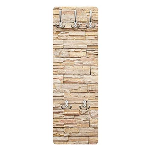 Bilderwelten Garderobe Steinoptik Asian Stonewall Große Steinmauer aus Steinen 139 x 46 cm