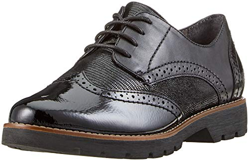 Jana 8-8-23702-21 001, Damen Brogues, Schwarz (Black 001), 41 EU (7.5 UK)