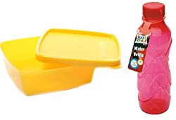Tupperware Cool N Fresh (250 ML) 1 Pc & FREE Just Chill Water Bottle of 1 Ltr.