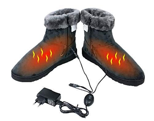 ObboMed MF-2600L 5V, 10W, Karbonfaser beheizbare Schuhe, feste Sohle, Heizschuhe, Infrarot Schuhe, Fußwärmer, Kalte Füße Aufwärmer, Wärmeschuhe, Winterhausschue, L: bis Schuhgröße 45.5