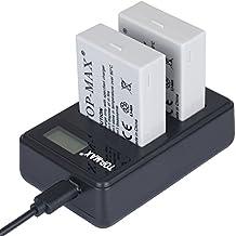 TOP-MAX® 2 paquetes LP-E8 Reemplazo Batería Rercargable + Cargador Doble para Canon 550D/600D/650D/700D Rebel T2i/T3i/T4i/T5i