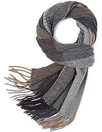 MESHIKAIER 100% Cachemire Lana Uomo Sciarpa Classico Inverno Caldo Sciarpa  Casual Morbido Sciarpa Lussuoso Sciarpa ad13832c89cc