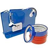 PrimeMatik - Sigillatrice a Nastro per Sacchetti di plastica con 8 Nastri Adesivi