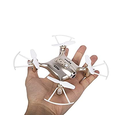 DAYE LTD Syma FPV Mini Drone X21W 2.4GHz with 6 Axis Gyroscope RC Quadcopter 3D Flip One Key Start/Landing, Headless Mode Pocket Drone for Beginners Children