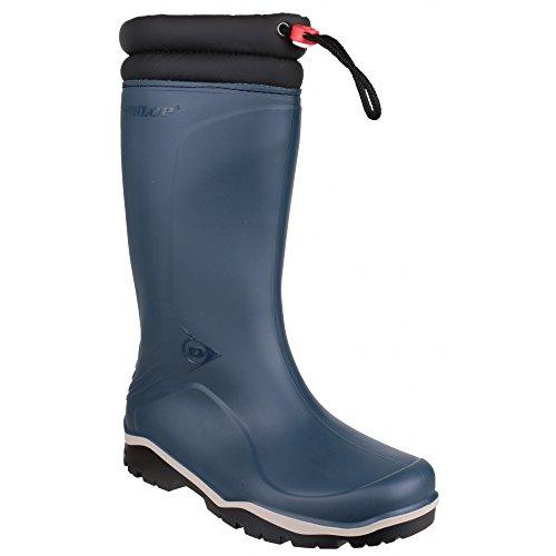 Dunlop  K454061 GEV.LRS BLIZZ, Bottes en caoutchouc de hauteur moyenne, non doublées mixte adulte Bleu - Bleu