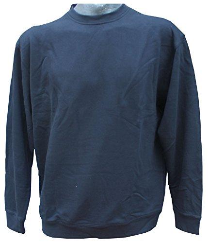Rundhals Sweatshirt von Redfield in großen Größen bis 6 XL Blau
