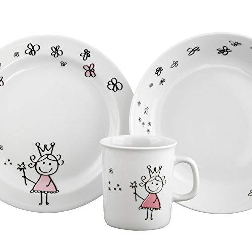 Creative Assiette de petit-d/éjeuner en c/éramique pour enfant Vaisselle de couleur Dessin anim/é Table damour de style Assiette Minnie Mickey plaque rose