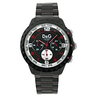Dolce & Gabbana Dolce&Gabbana – Reloj analógico de cuarzo para hombre con correa de acero inoxidable, color negro