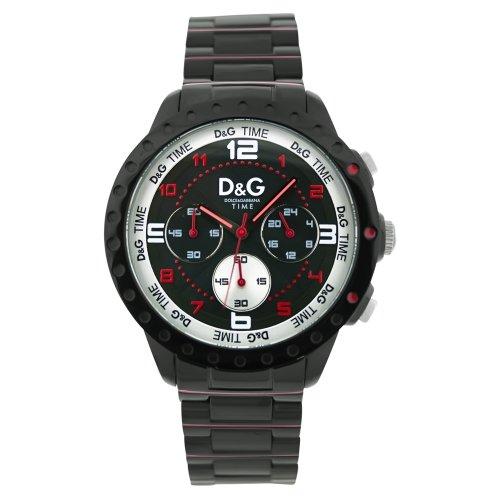 Dolce&Gabbana - DW0192 - Navajo - Montre Homme - Quartz Analogique - Cadran Noir - Bracelet Acier Noir