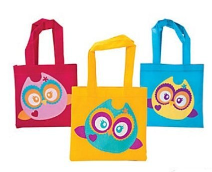 Owl Party Favor Tote Bags - 12 ct by Party Supplies (Owl Party Supplies)