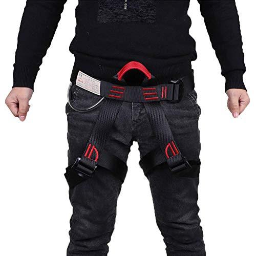 Imbracatura da Arrampicata, Cintura di Sicurezza Arrampicata Alpinistica Potenziare Il Busto Adulti Nero