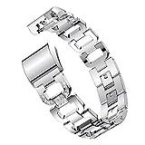 Transer Armband Für Fitbit Charge 2 /Legierung Ersatzband Kleines Metall Crystal Watch Band Handschlaufe (Silver)