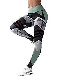 NIBESSER Femme Pantalon de Sport Imprime Floral Slim Legging Elasticite  Elevee Respirant Skinny Sechage Rapide pour 1fdd893528e