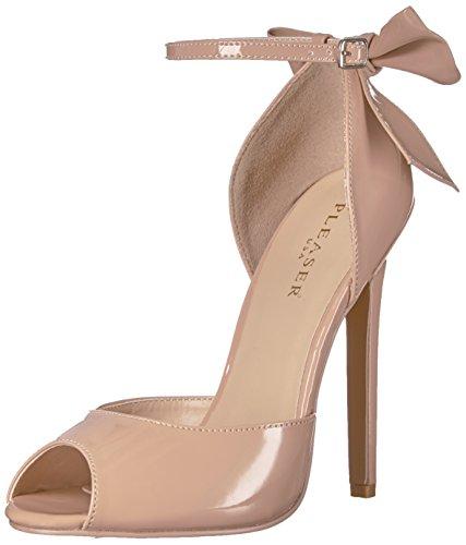 Pleaser SEXY-16 Stiletto Heel, Peep-Toe d'Orsay Pumps, Lack-Schwarz, 35-44, Nude Pat, 39 EU / 9 US Pleaser Peep Toe Pumps