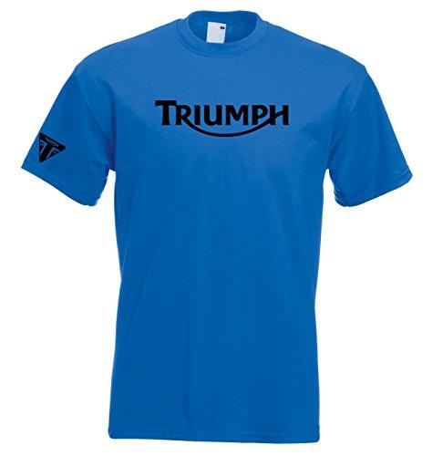 Juko Triumph T Shirt Motocicletta 1335Retro Top Blue L