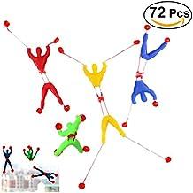 TOYMYTOY 72 Pcs Niños Niños Stretchy Sticky Toy Set Incluyendo 24 manos pegajosas 24 Wall Climber hombres 24 martillos pegajosos