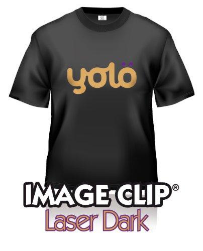 yolö creative 10 fogli di formato a4 di image transfer clip laser scuro self-sarchiatura calore carta t-shirt/trasferimenti