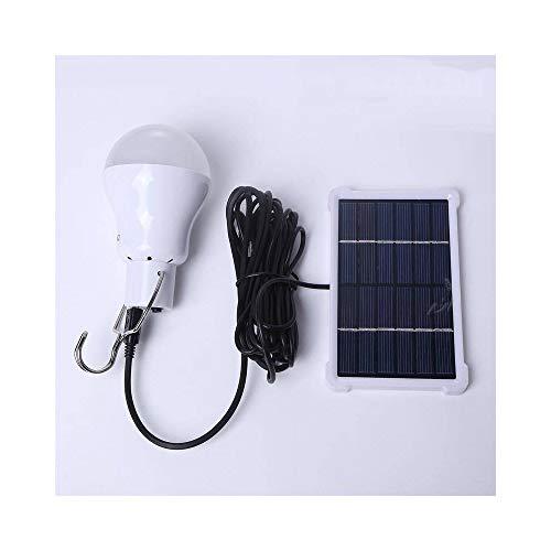 HELAHOME Tragbare geführte Solarlampenlampe 140LM   lud Sonnenenergie-Panel der Solarenergie-Lampen-5V für im Freien kampierende Zelt-Lichter auf (Color : White)