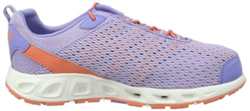 Columbia Youth Drainmaker Iii, Chaussures Multisport Outdoor Fille Violet (Whitened Violet, Lychee 501)