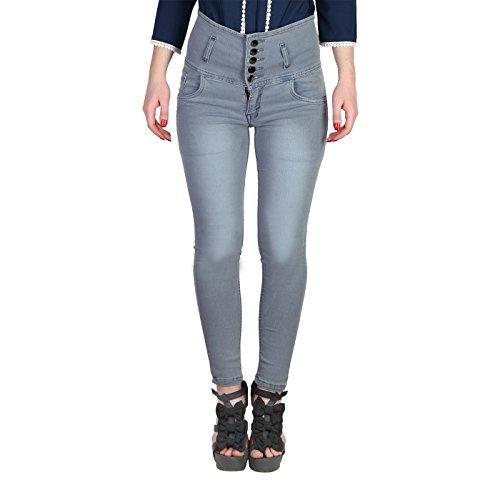 Broadstar Women's Slim Fit Jeans (5B, Grey, 32)