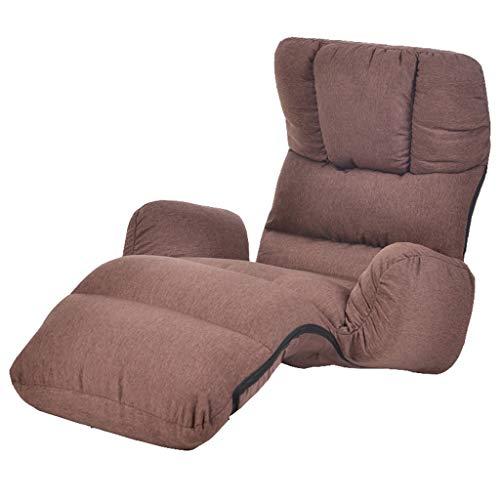Sofa Lazy Sofa, Liegen Sofa Klappstuhl, Multi-funktionale Lazy Sofa, Simple Modern Lazy Sofa, Schlafsessel Sessel, Freizeit Sofa Stuhl Home (Farbe : Brown)