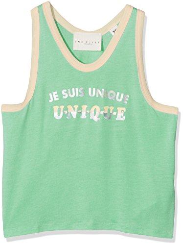 Une fille today I am Girl's Débardeur En Jersey Coton Modal, Bordages Contrastés, Print Vest Test