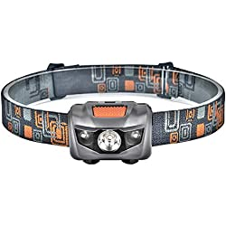 Linkax Linterna Frontal LED Linterna de cabeza Luz Frontal Lampára de Cabeza 120 Lúmenes y 4 Modos Impermeable Para Camping Pesca Ciclismo Carrera Caza 3 Pilas AAA incluidas