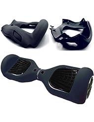 Cool&Fun Cubierta de silicona Protector contra rasguños para 6,5 pulgadas 2 ruedas Self Balanceating Scooter Hoverboard (Negro)