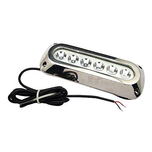 SODIAL(R)18W Weisser Edelstahl IP68 Wasserdichtes LED Marine Unterwasserlicht Boot Yacht Licht