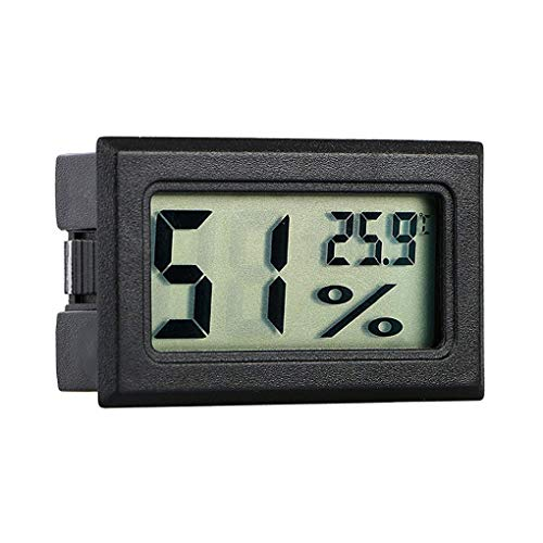 Ruiboury Wireless-LCD-Digital-Thermometer-Hygrometer Innenraum Haustier Auto Auto Mini-Temperatur-Feuchtigkeits-Messinstrument-Prüfvorrichtung -