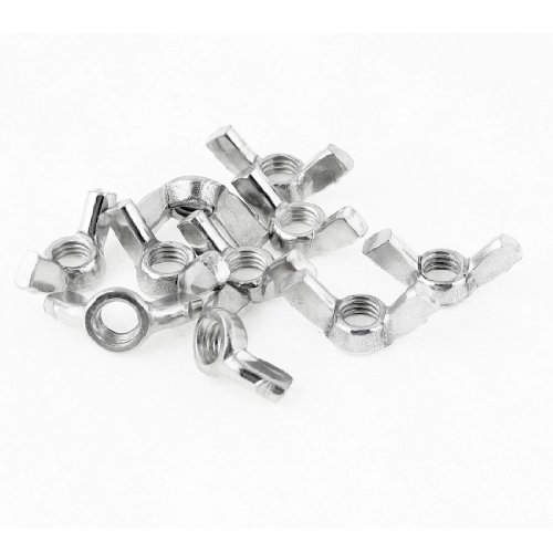 lot-de-10-7-mm-dia-filetage-epais-liberation-rapide-ecrou-papillon-hardware-en-metal
